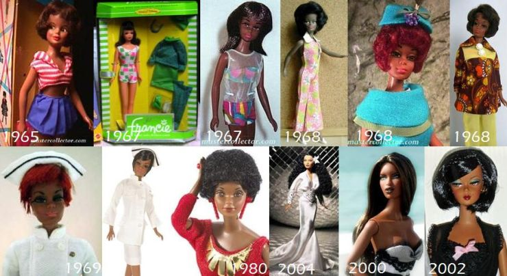 Barbie Negra Linha do Tempo