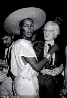 Grace Jones e Andy Warhol