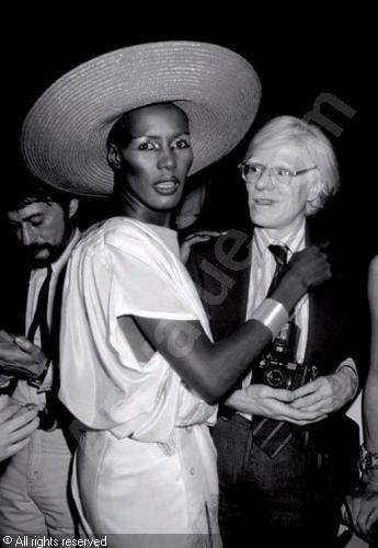 Grace Jones e Andy Warhol
