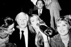 Andy Warholl e Jerry Hall