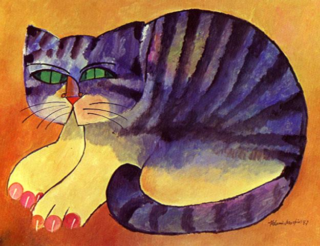 Aldemir Martins - Gato Malhado - 1987