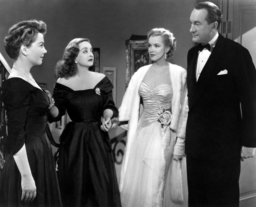 anne baxter, bette davis, marilyn monroe & george sanders - A Malvada/All About Eve 1950 @ Reprodução