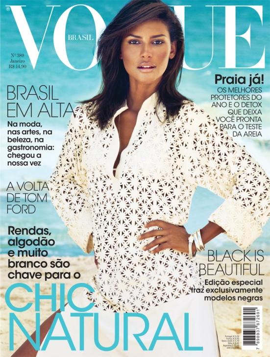A primeira modelo negra na capa da Vogue Brasil