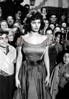 1957: Italian actress Sophia Loren in a flamenco dance scene from the film 'The Pride and the Passion', directed by Stanley Kramer for United Artists.