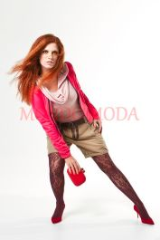 Blusa e Bermuda Boyfriend Enjoy, Jaqueta Body Plus, Meia Calça SCALA SEM COSTURA, Calçado e Bolsa KÉR