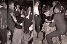 Andre Leon Talley (100 kilos a menos de sua silhueta atual) com Diana Ross