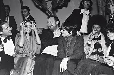 Halston, Bianca Jagger, Jack Haley Jr, Liza Minnelli e Michael Jackson