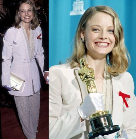 Oscar 1992 Jodie Foster (O Silêncio dos Inocentes) veste Giorgio Armani1