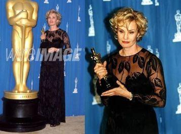 Oscar 1995 Jessica Lange veste Calvin Klein @ Wireimage
