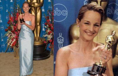 Oscar 1998 Helen Hunt (Melhor É Impossível) veste Gucci @ Getty