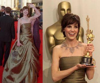Oscar 2000 Hilary Swank (Meninos Não Choram) veste Randolph Duke @ Getty
