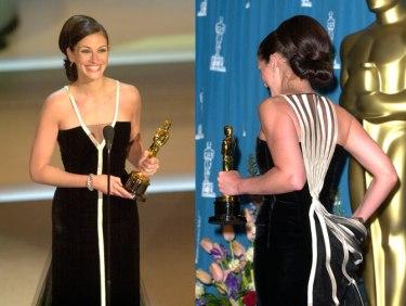Oscar 2001 Julia Roberts (Erin Brockovich) veste Valentino @ Getty