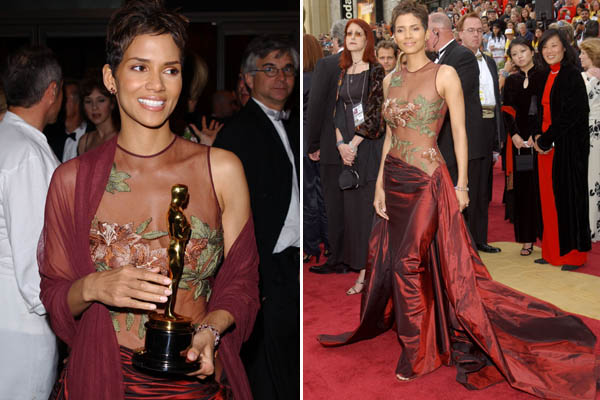 Oscar 2002 Halle Berry (A Última Ceia) veste Elie Saab @ Getty