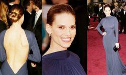 Oscar 2005 Hilary Swank (Menina de Ouro) veste Guy Laroche @ Getty