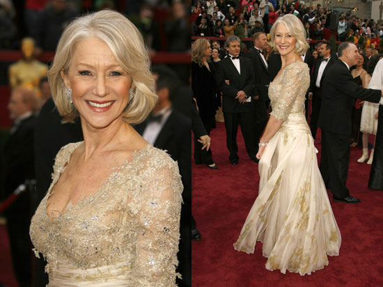 Oscar 2007 Helen Mirren (A Rainha) veste Christian Lacroix @ Getty