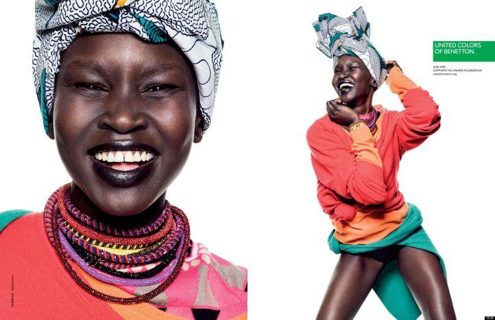 Alek Wek - Campanha United Colors of Benetton @ Divulgação