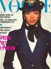 Naomi Campbell - Vogue Paris - Agosto 1988 @ Reprodução