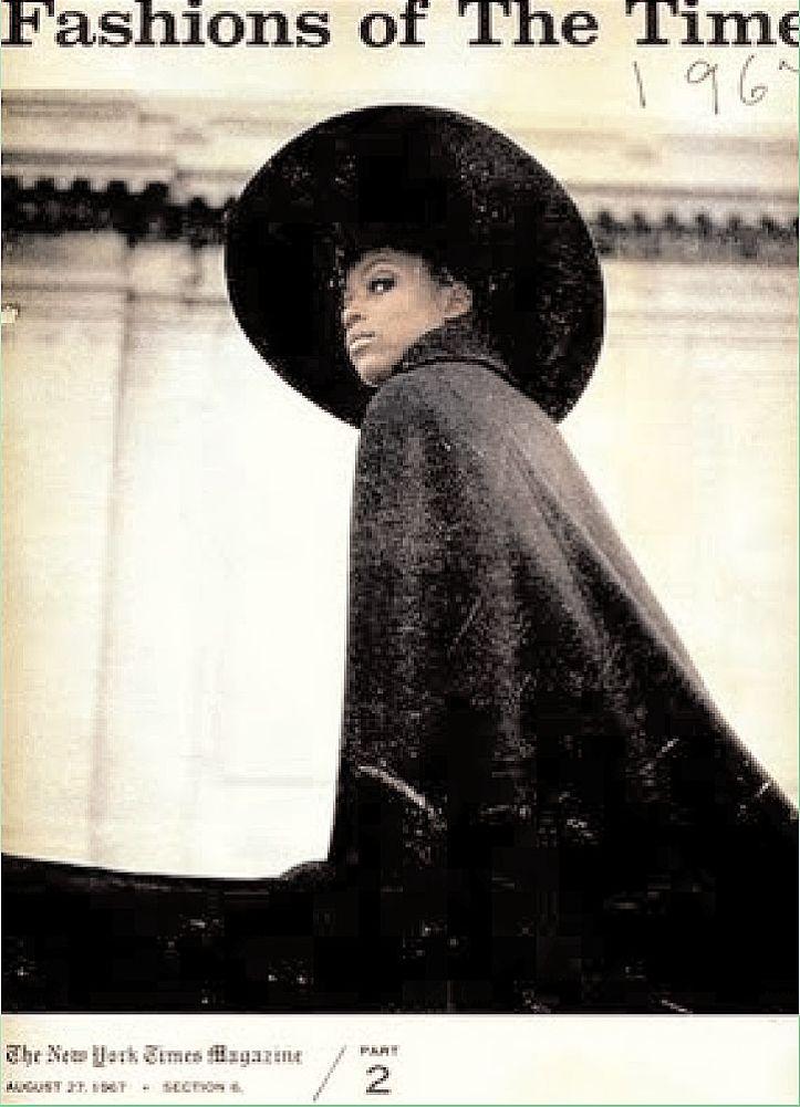 Naomi Sims - Fashions of the Times - The New York Times Magazine - Agosto 1967 @ Gosta Peterson