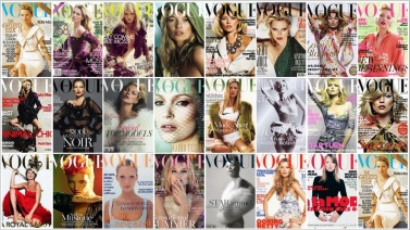 Kate Moss em várias Vogues