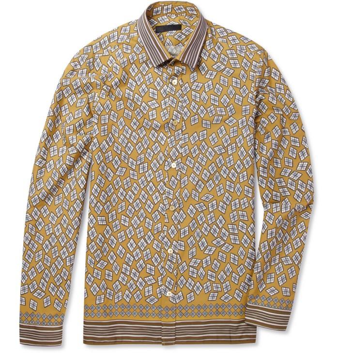 Camisa Estampada Burberry Prorsum