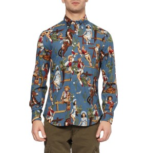 Camisa Estampada Gitman Vintage