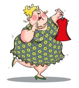 Fat Woman Illustration