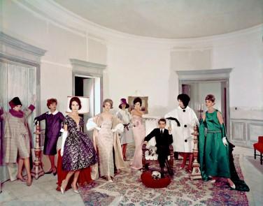 Dener e suas 'manequins' - como eram conhecidas as modelos na época @ Foto Divulgação