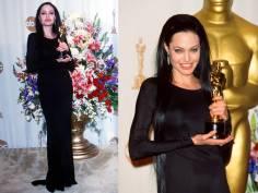 Oscar 2000 Angelina Jolie veste Gucci