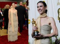 Oscar 2002 Jennifer Connelly veste Balenciaga