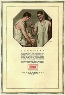 Publicidade de longwear da década de 1910 @ Divulgação