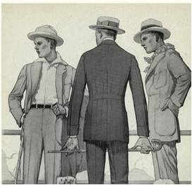 Roupas para atividades no campo na década de 1910 @ Divulgação