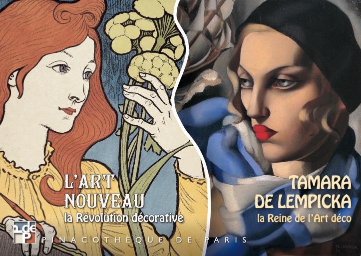 Convite para exposição sobre Tamara de Lempicka na Pinacoteca de Paris, em 2013 @ Divulgação