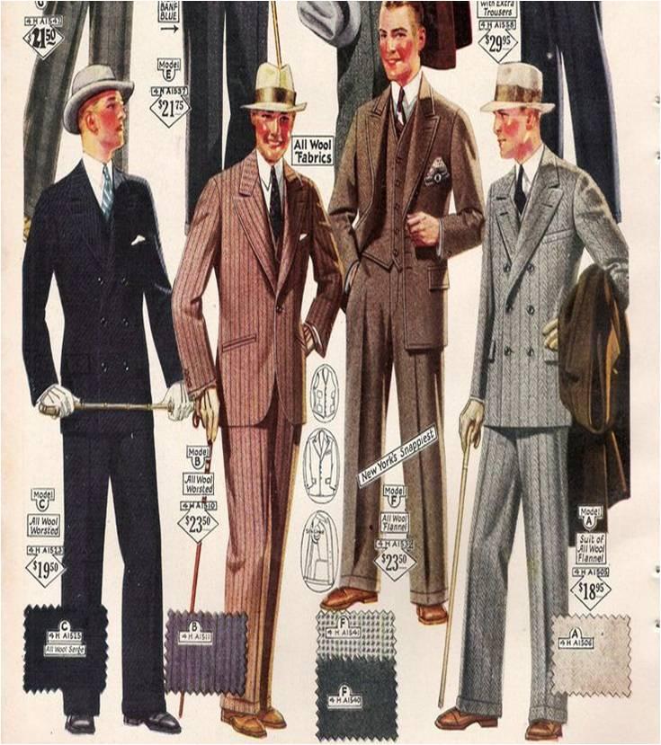 Ilustração da moda masculina dos anos 50 @ Divulgação
