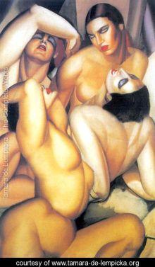 Tamara de Lempick - Group-of-Four-Nudes - 1925 @ courtesy www.tamara-de-lempicka.org
