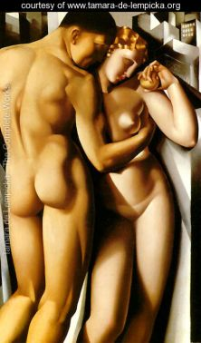 Tamara de Lempicka - Adam-and-Eve -1932 @ courtesy www.tamara-de-lempicka.org