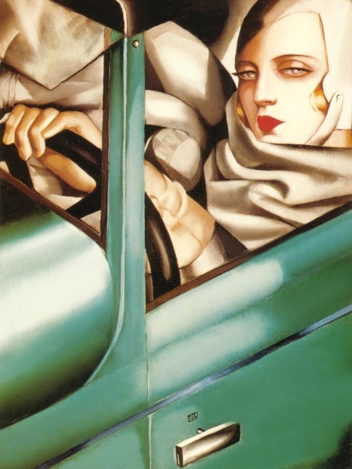 Tamara de Lempicka, Autoportrait, 1925 @ kunst.wikia