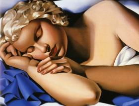 Tamara de Lempicka - Kizette Sleeping - 1933 @ Divulgação