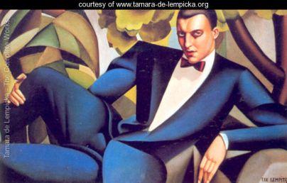 Tamara de Lempicka - Portrait-of-the-Marquis-d'Afflito -1925 @ courtesy www.tamara-de-lempicka.org