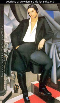 Tamara de Lempicks Portrait-of-the-Duchess-of-La-Salle -1925 @ courtesy www.tamara-de-lempicka.org