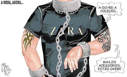 Ilustração sobre trabalho escravo da Zara @ Sandro Almeida