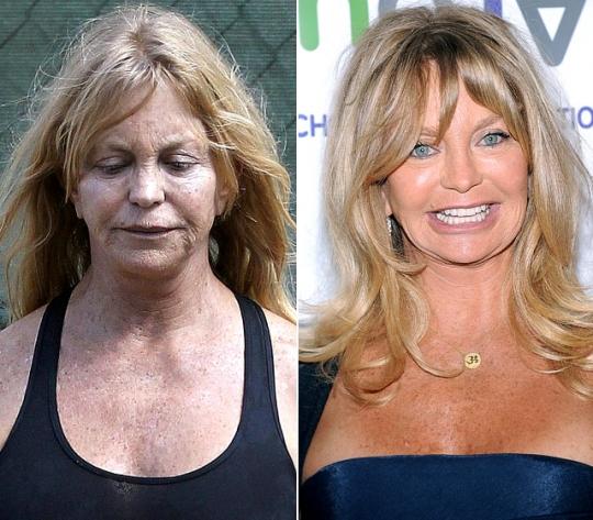 Goldie Hawn Sem Maquiagem