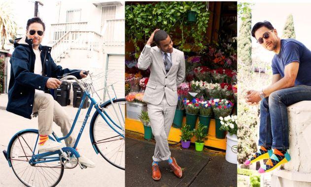 Homens com meias coloridas @ Divulgação