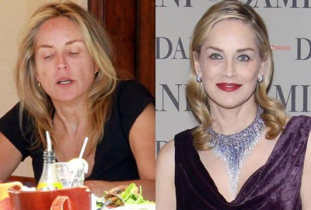 Sharon Stone Sem Maquiagem