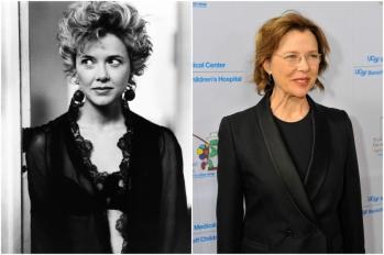 Annette Bening em 1990 e hoje @ Getty