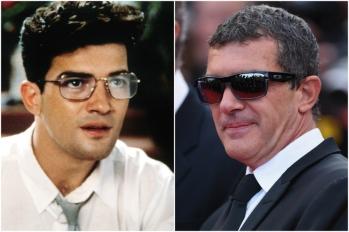 Antonio Banderas em 1988 e hoje @ Getty