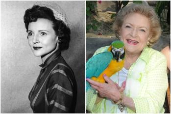 Betty White em 1950 e hoje @ Getty