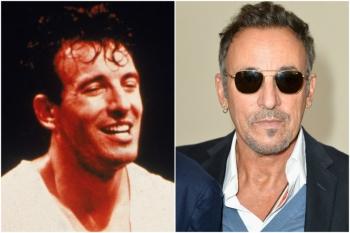 Bruce Springteen em 1980 e hoje @ Getty