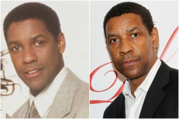 Denzel Washington em 1994 e hoje @ Getty