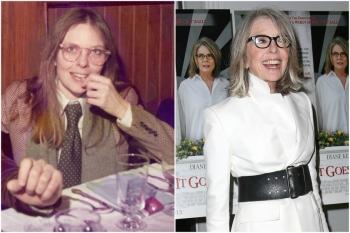 Diane Keaton em 1975 e hoje @ Getty