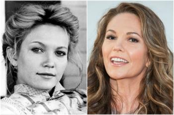 Diane Lane em 1989 e hoje @ Getty